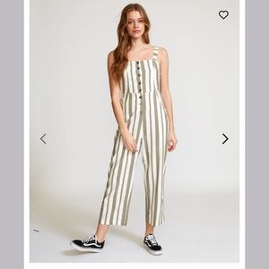 RVCA striped Jumpsuit Romper